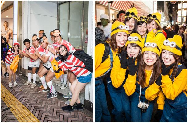 渋谷文化プロジェクト渋谷のハロウィン2015、五郎丸など世相系の仮装も