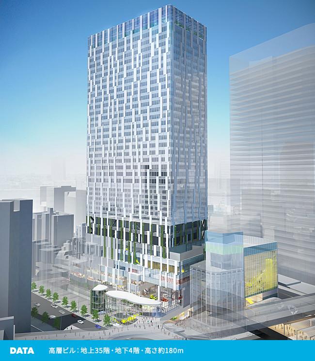 DATA 高層ビル:地上35階・地下4階・高さ約180m